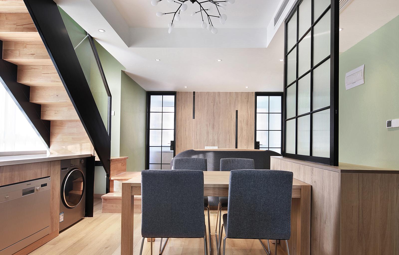 45平小复式装修餐厅效果图