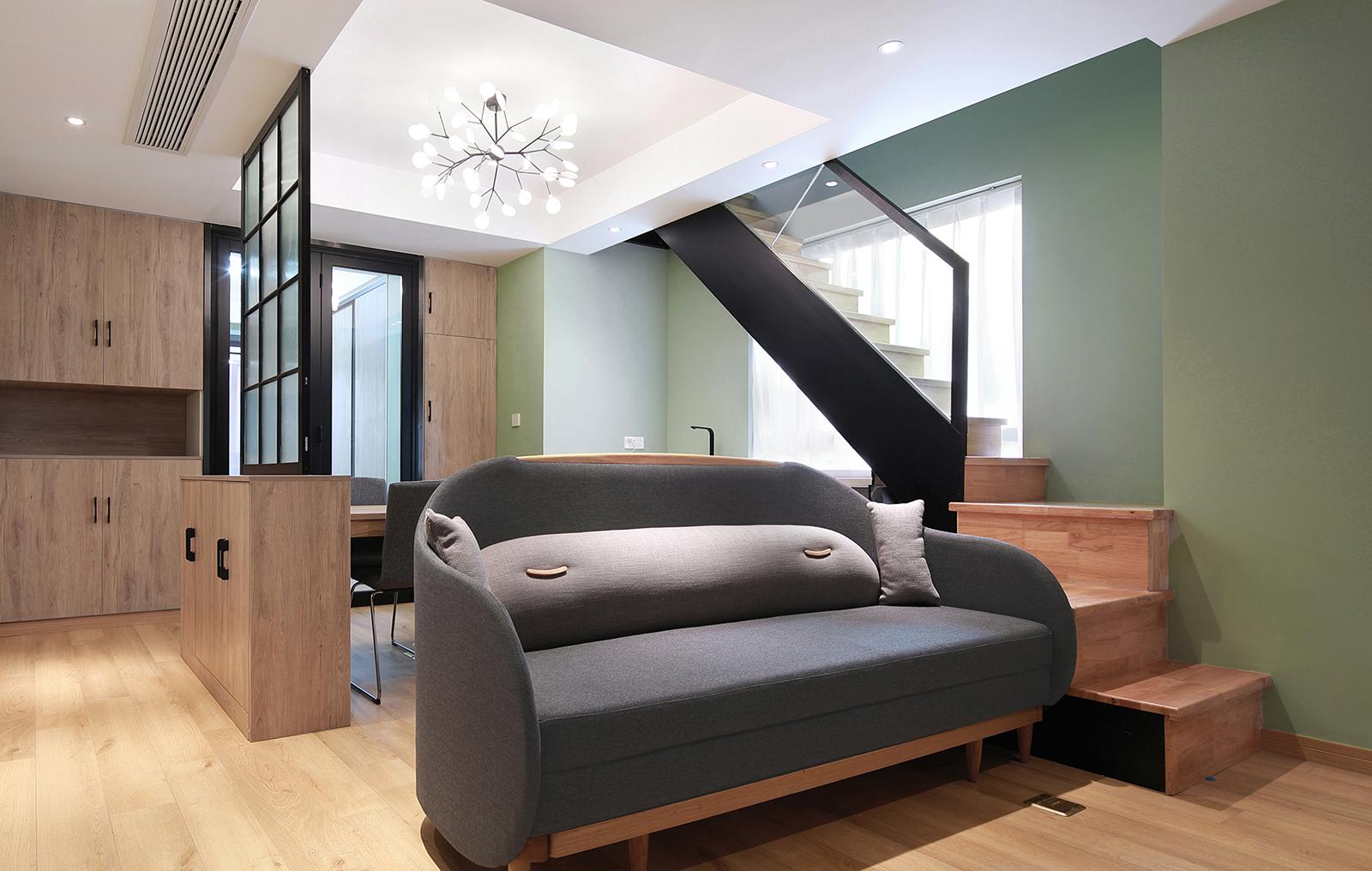 45平小复式装修沙发设计