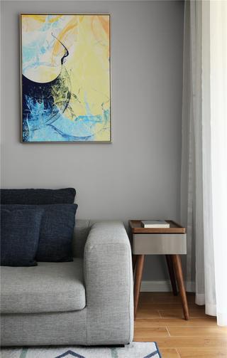 108㎡现代简约风装修客厅沙发一角