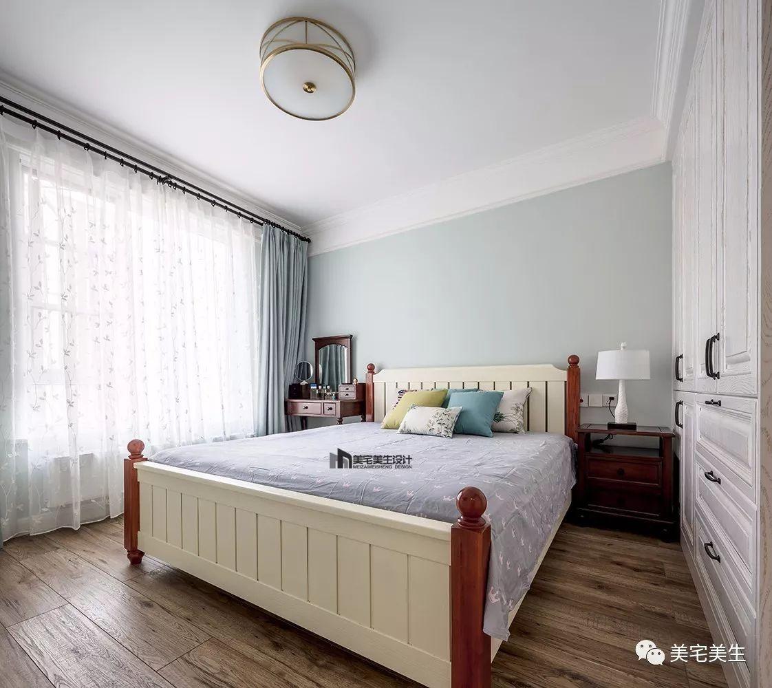 90㎡美式风格卧室装修效果图