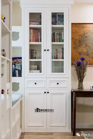 90㎡美式风格装修书柜设计