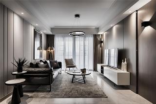 现代风格三居客厅装修效果图