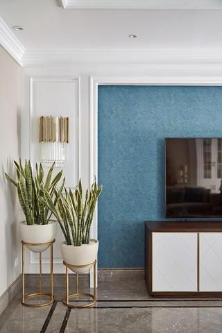 大户型混搭风电视背景墙装修效果图