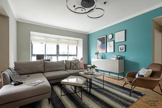 现代北欧两居客厅装修效果图