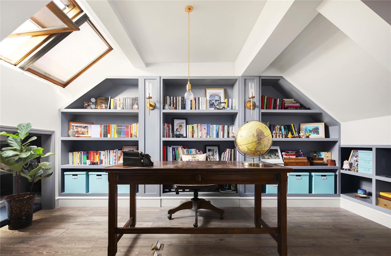 美式别墅书房装修效果图