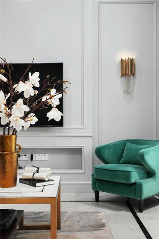 美式别墅电视墙装修效果图