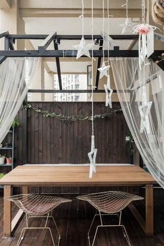 170平美式风格装修休闲阳台设计