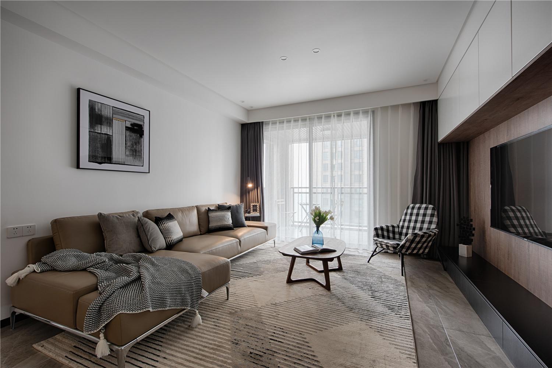 现代三居室客厅装修效果图