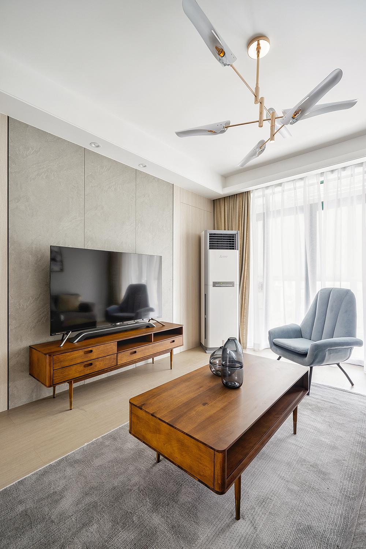 110平二居室电视背景墙装修效果图