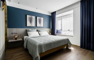 90㎡现代风卧室装修效果图