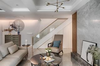 132㎡三居室客厅装修效果图