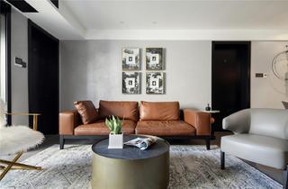 现代混搭三居沙发背景墙装修效果图