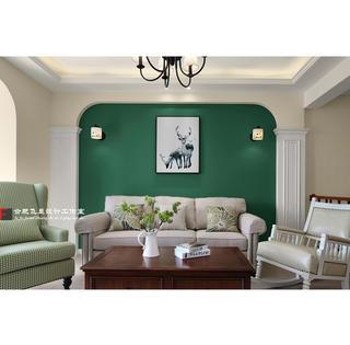 170㎡美式风沙发背景墙装修效果图