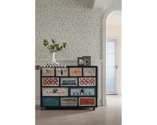 170㎡美式风装修装饰边柜设计