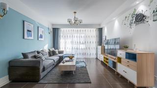 北欧混搭三居客厅装修效果图