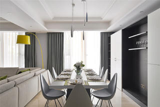 180平米三居室餐厅装修效果图