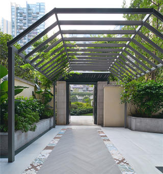 180平米三居室装修庭院设计