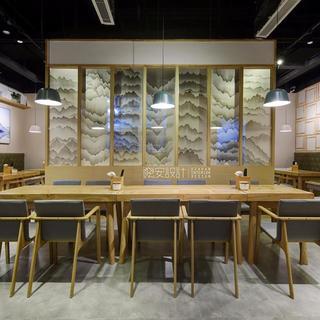 150㎡日式餐厅装修效果图