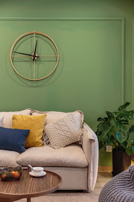 55平米一居室沙发背景墙装修效果图