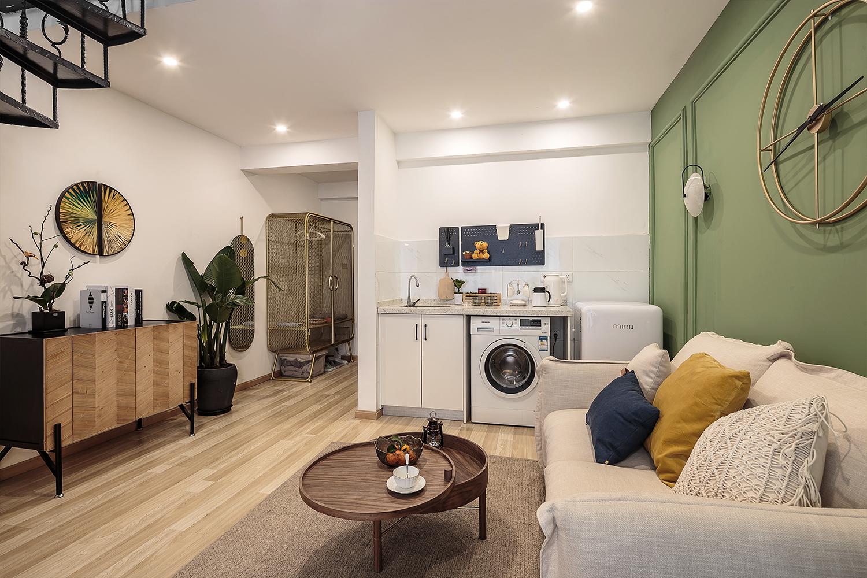 55平米一居室客厅装修效果图