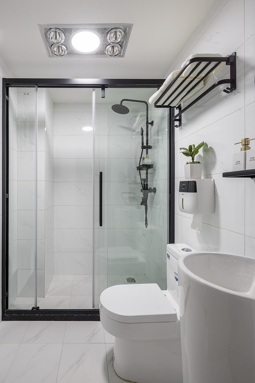 55平米一居室卫生间装修效果图