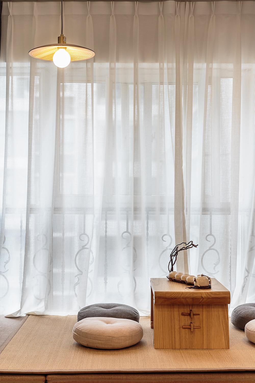 55平米一居室装修茶台设计