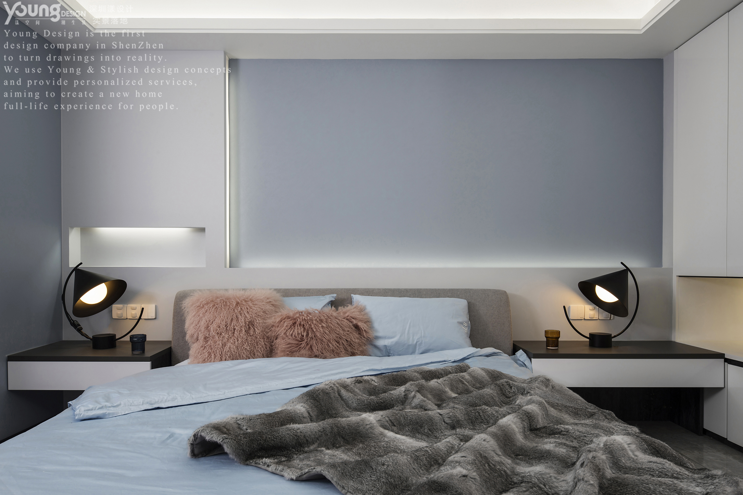 148平现代简约卧室装修效果图