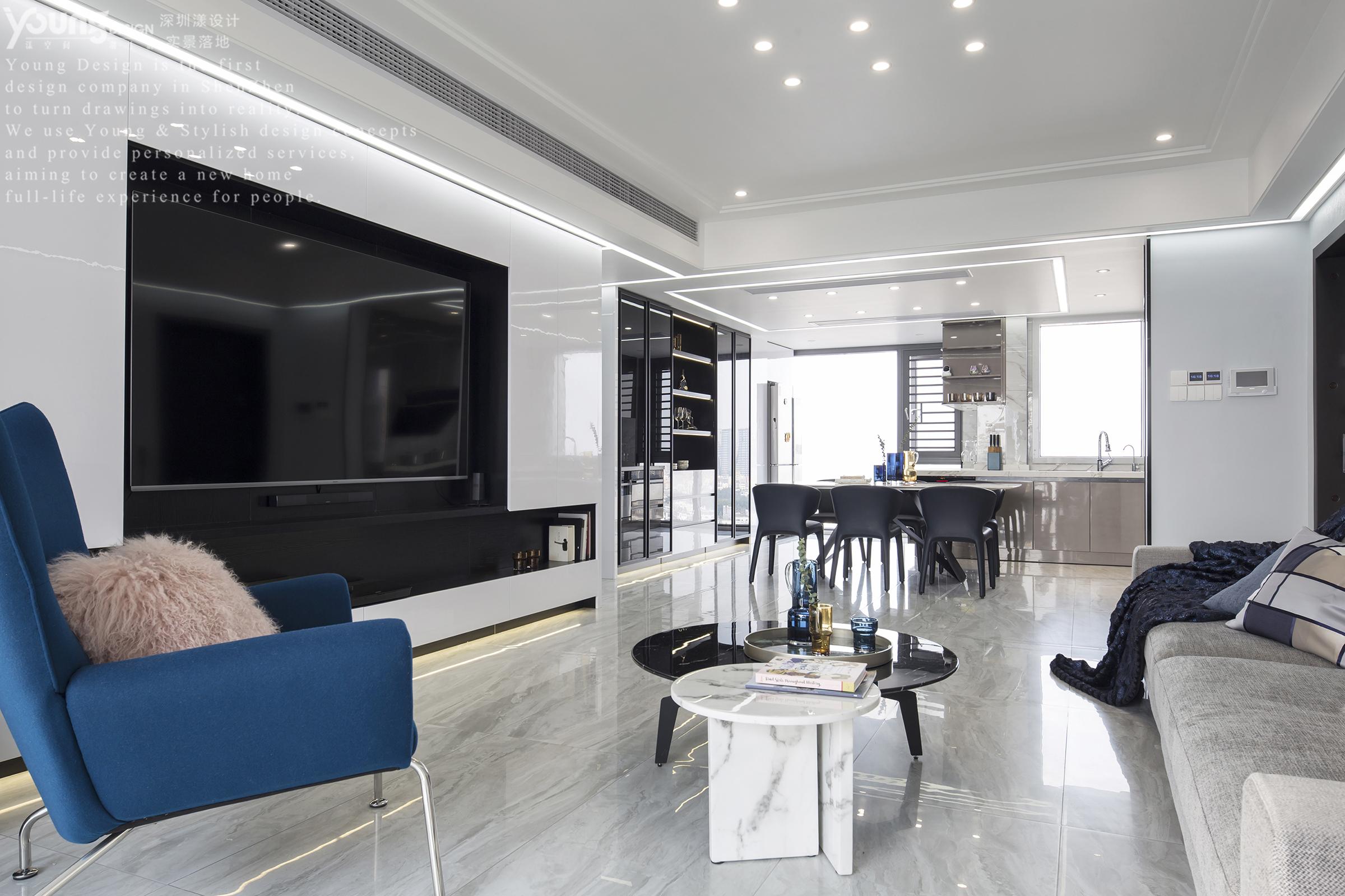 148平现代简约客厅装修效果图
