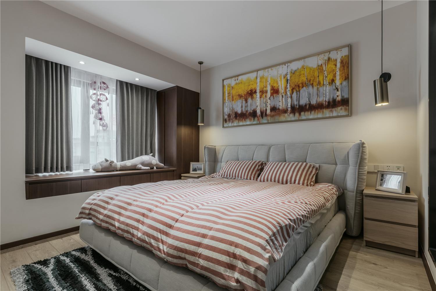 127㎡现代风格卧室装修效果图