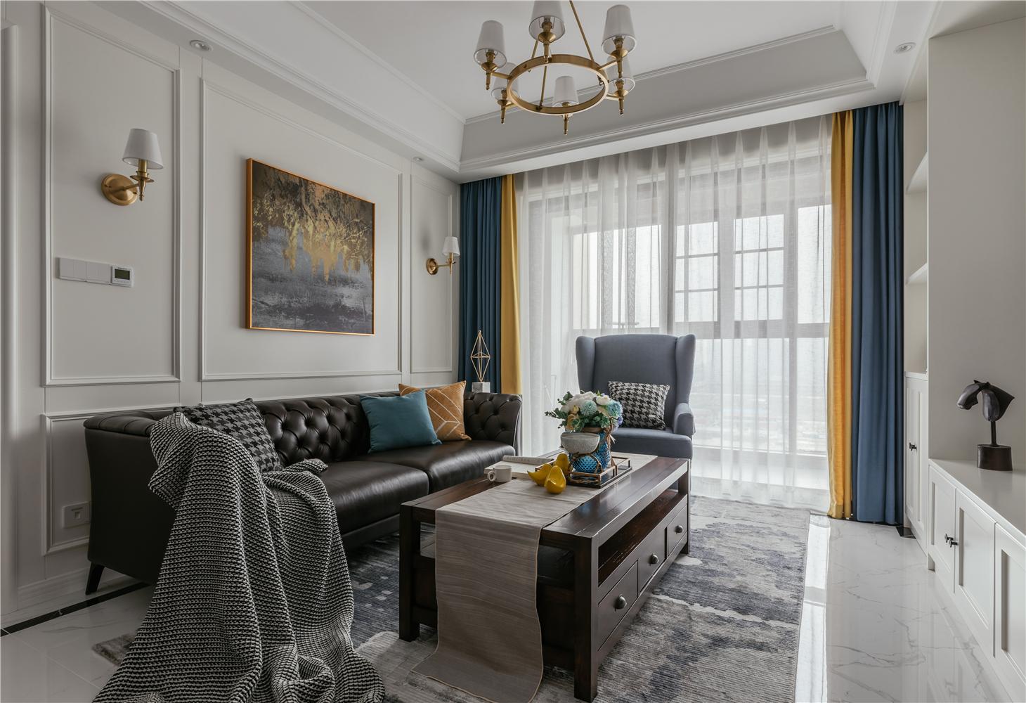 简美风格两居客厅装修效果图