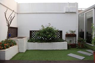 复式美式三居装修露台设计