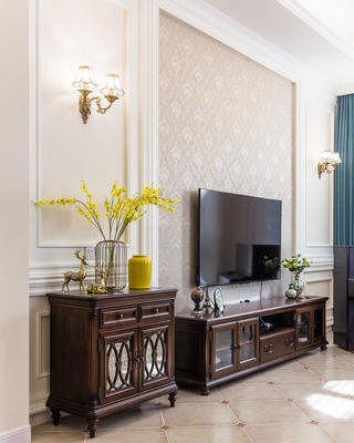 美式别墅电视背景墙装修效果图