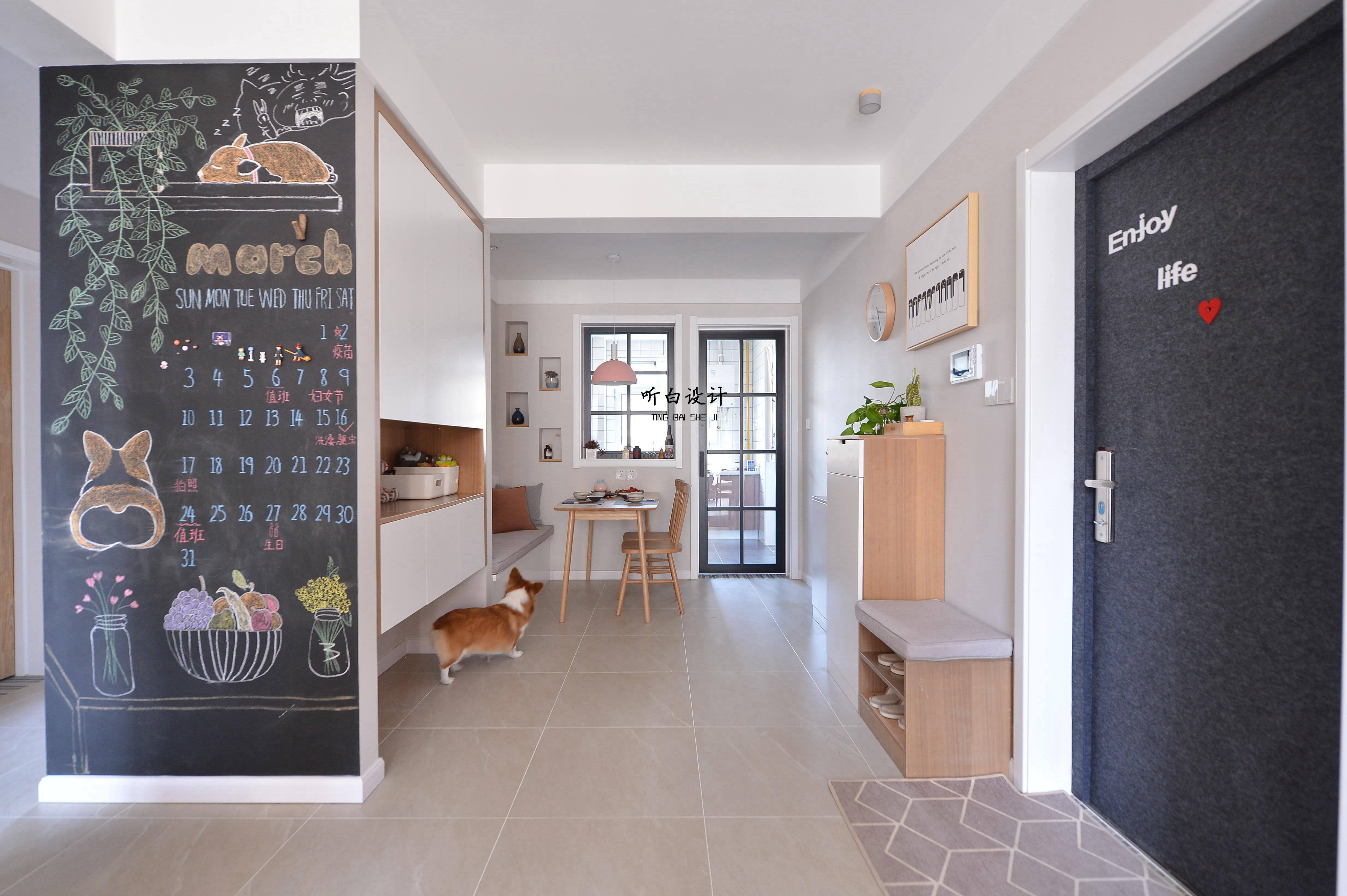 门日式北欧三居室玄关装修效果图