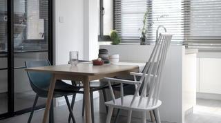 108㎡混搭三居装修餐桌椅设计