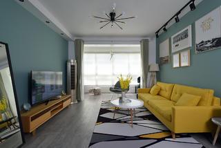 75平米两居室客厅装修效果图