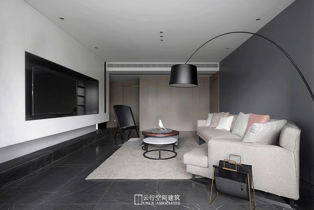 160㎡现代简约客厅装修效果图