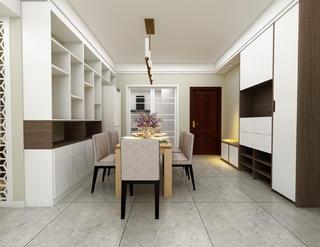 現代簡約二居餐廳裝修效果圖
