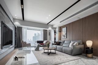 140㎡三居室客厅装修效果图