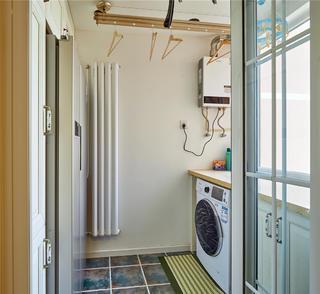 美式复古风两居阳台装修效果图