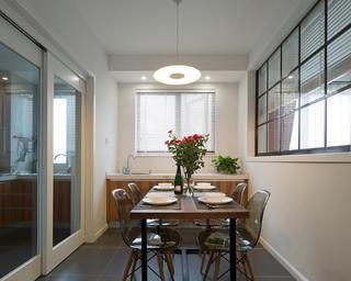 104平米三居室餐廳裝修效果圖