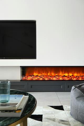现代混搭风三居室装修壁炉设计