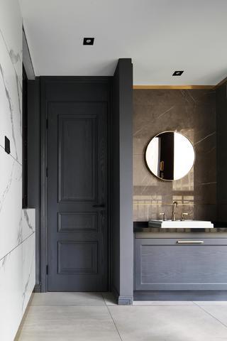 现代混搭风三居室装修洗手台设计