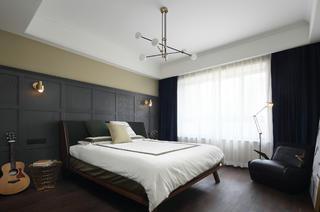 现代混搭风三居卧室装修效果图