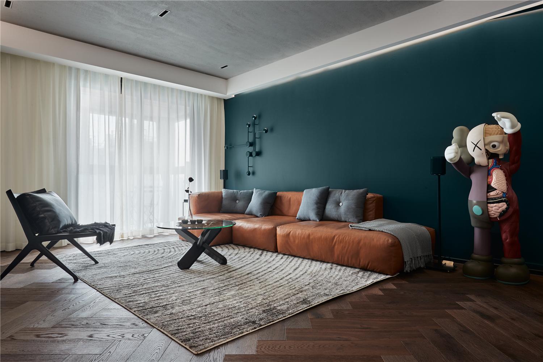 混搭风三居室客厅沙发墙装修效果图
