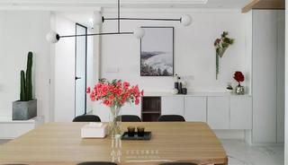 110平米兩居室餐廳裝修效果圖
