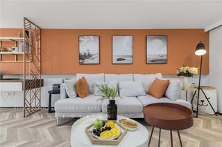 75平loft一居起居室装修效果图