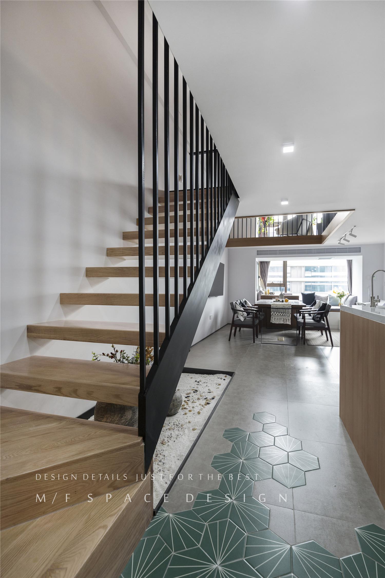 75平loft一居楼梯装修效果图
