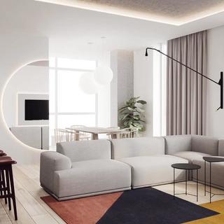 极简二居室公寓装修效果图