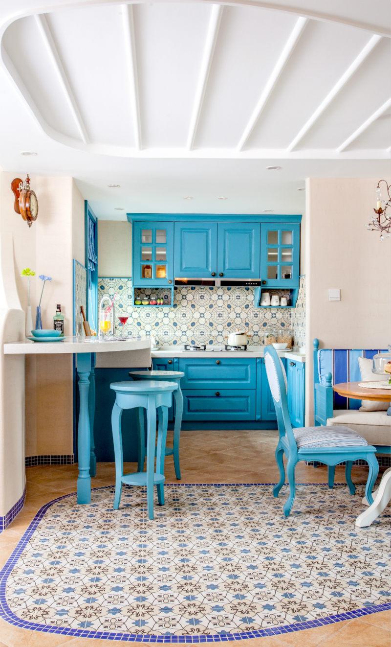 130㎡地中海风格厨房装修效果图