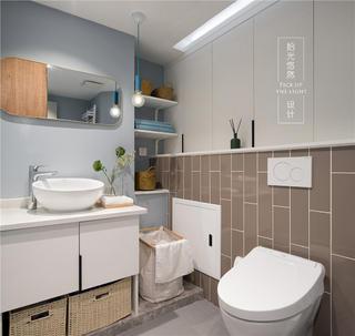104平米三居室卫生间装修效果图
